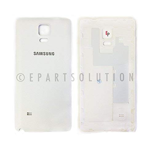 ePartSolution_Housing Battery Cover Door Back Cover for Samsung Galaxy Note 4 N910 N910A N910T Replacement Part USA Seller (White)