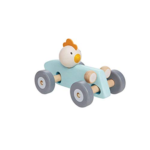 Find Discount Lxrzls Toys Wooden Racing Cars-Push-Along Wooden- Educational Toddler Toy for Baby Boy...