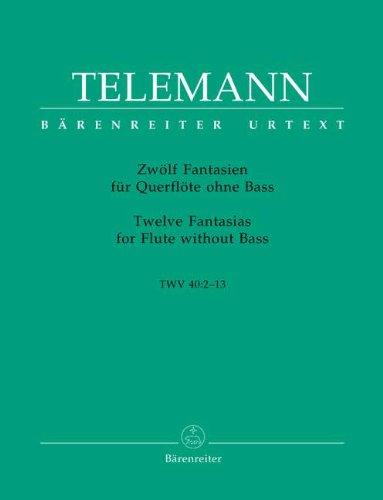 12 FANTASIEN - arrangiert für Querflöte [Noten / Sheetmusic] Komponist: TELEMANN GEORG PHILIPP