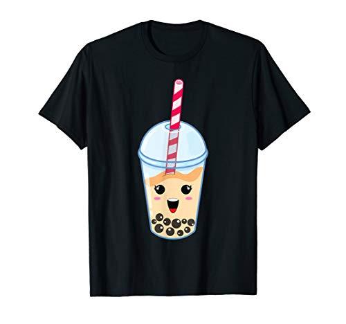 Kawaii Boba Milk Tea   Cute Peach Bubble Tea Lover Gift T-Shirt