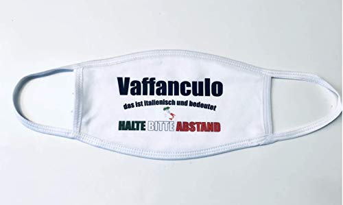 Gesichtsmaske Italien Vaffanculo Maske satire Spaß übersetzung Flagge Italienisch