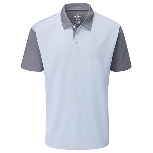 Stuburt Herren SBTS1131 Mens Broadway Golf Polo Shirt Top Poloshirt, himmelblau, L