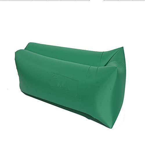 WDL Aufblasbare Liege Aufblasbares Sofa Outdoor Tragbar Wasserdicht & Anti-Air Leaking Lounger Air Sofa Hängemattenstuhl für Pool, Strand, Partys, Reisen, Camping, Picknick Green-240cm*70cm