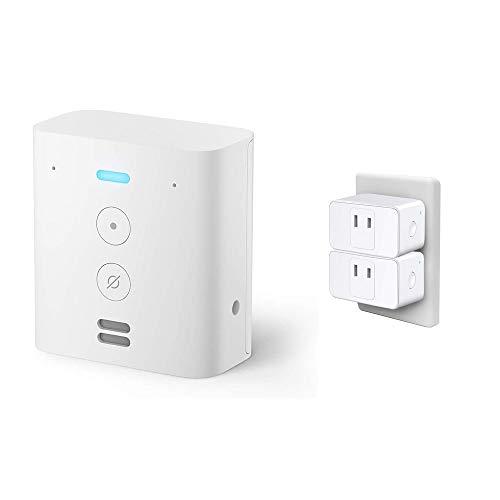 Echo Flex (エコーフレックス) プラグイン式スマートスピーカー with Alexa + Meross WIFIスマートプラグ ホワイト 2個入り