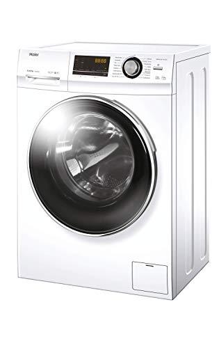 Haier HWD90-BP14636N Waschtrockner / 1400 UpM / 9 kg Waschen / 6 kg Trocknen/Endzeitvorwahl/AquaProtect, weiß