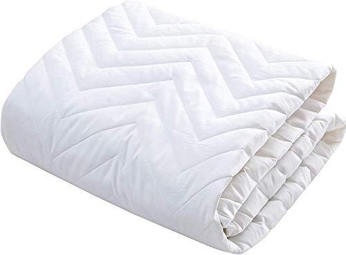 敷パッド クイーン オールシーズン快適 ベッドパッド 防ダニ 抗菌防臭 吸汗 速乾 ゴムバンド付き 洗える ホテル仕様 160x205cm ホワイト