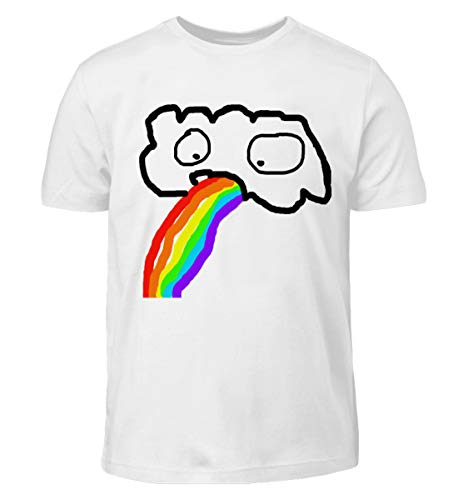 Lustige kotzende Wolke - Regenbogen JGA Junggesellenabschied Gay Pride CSD - Kinder T-Shirt
