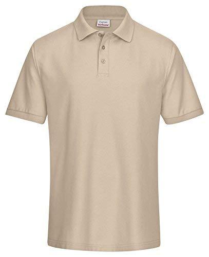 CaptainWorkwear Premium Poloshirt Piqué Unisex für Damen & Herren | Hochwertiges Poloshirt Herren mit 3-er Knopfreihe | Innovative Mischung aus Baumwolle & Polyester | Große Farbauswahl | 220g/m²