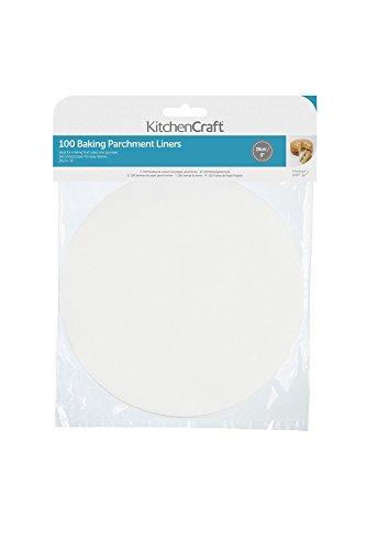 KitchenCraft Papier de Cuisson Anti-adhérent, 20 cm, Rond (Lot de 100)