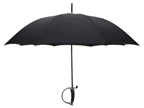 Schwert Regenschirm Degen, 100cm, Schwarz