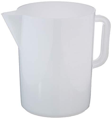Giganplast Gig - Jarra medidora de polietileno, 5 litros, color blanco