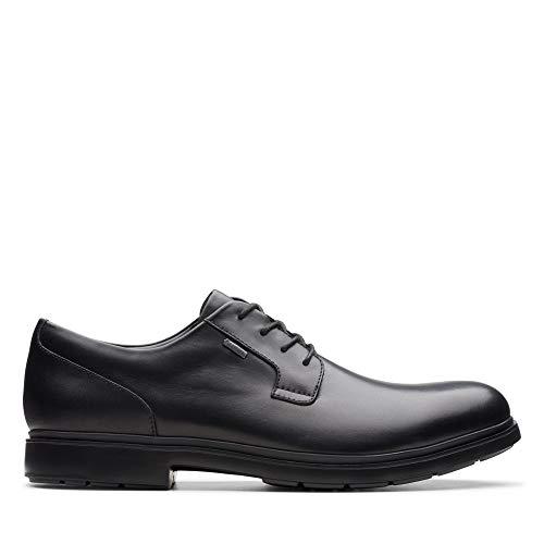 Clarks Un Tailor Go Gore-Tex - Zapatos de Piel, Color Negro