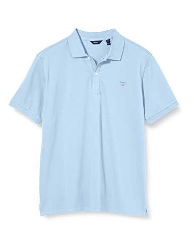 GANT Jungen D1. The ORIGINAL Pique Poloshirt, Blau (Capri Blue 468), (Herstellergröße: 176)
