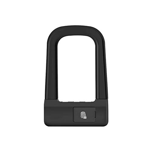 GANFANREN U Lock Fingerprint Lock Smart Bicycle Motorcycle Lock Double Push Pull Glass Door Shop Shop Theft U Shaped Lock Riding Accessories