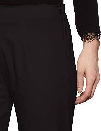 Rupa Softline Women's Straight Fit Pants (SLWK01BL_Black_M)