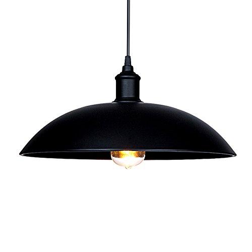 SDKKY Pot de fer noir Vintage chandelier