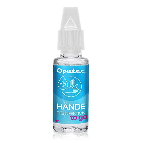 Oputec 10 ml Händedesinfektionsmittel to go - Handdesinfektion für die Hosentasche Handtasche - frei von Duftstoffen - begrenzt viruzid