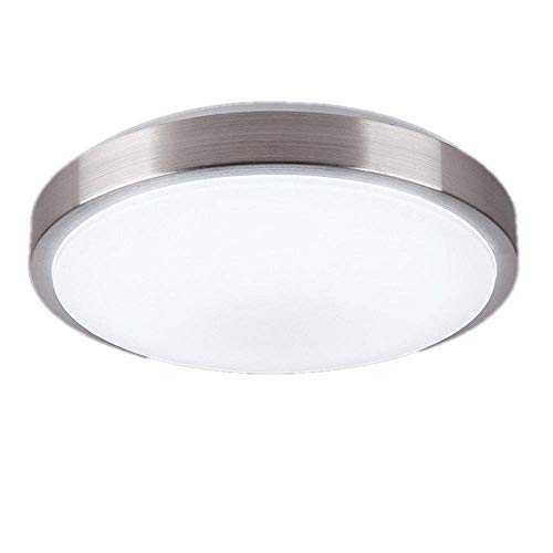 AFSEMOS 12W Blanco frío LED Plafón Lámpara De Techo Lámpara Iiluminación Interior, De Techo Pasillo Salón Cocina Dormitorio De La Lámpara Ahorro De Energía De Luz De Plata