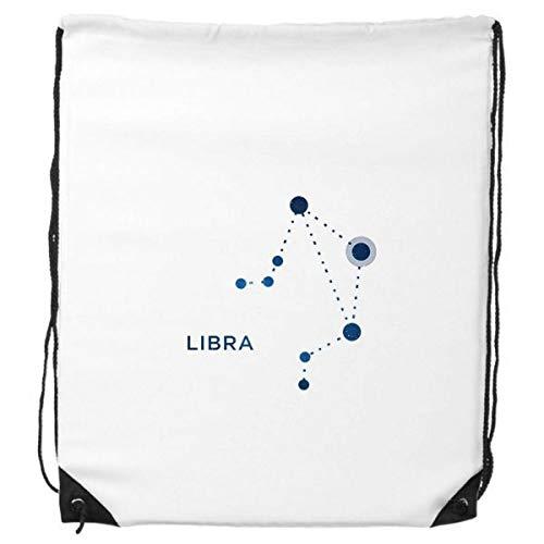 Weegschaal Constellatie Teken Zodiac Trekkoord Rugzak Winkelen Gift Sport Tassen