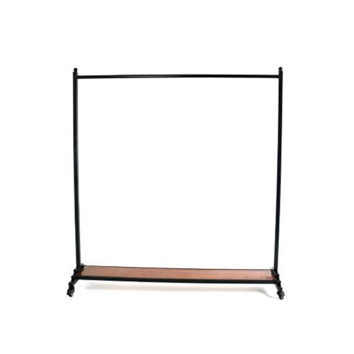 ZWD Retro Clothes Rail, Boutiques Toon kledingrek smeedijzer Mobile Kapstok Balkon Outdoor Kleding Rod Lengte: 155cm Jurken en hoeden Planken (Size : 169 * 155CM)