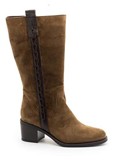 Botas Alpe 4328 Campera Cuero para Mujer 39 marrón
