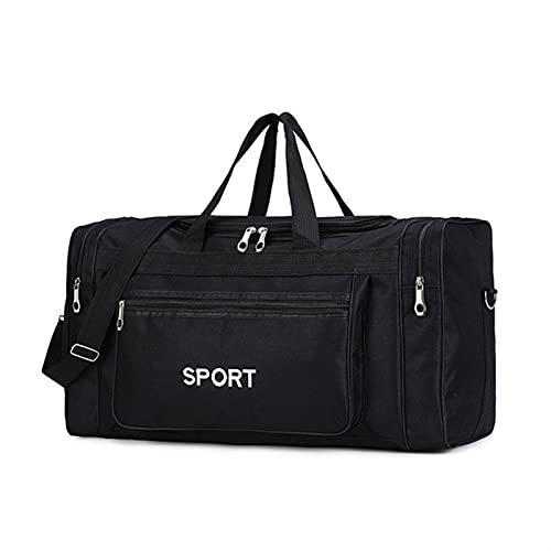 Grande Capacidad Gimnasia Bolsas Deporte Hombres Fitness Gadgets Yoga Gimnasio Saco Mochila Gimnasio Paquete para Entrenamiento Travel Sporttas Sportbag Duffle Bags (Color : Black Color)