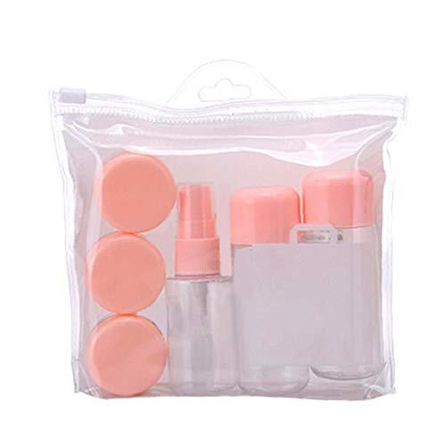 8pcs Leak Proof Contenants Réutilisables pour Le Shampooing Liquide De Toilette avec Une Bouteille De Spray Bouteilles Cosmétiques Crème (Couleur Aléatoire)