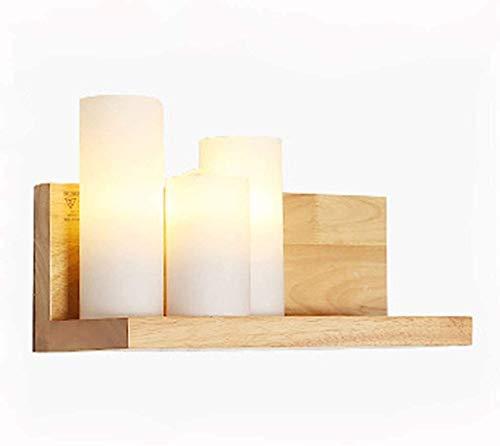 XYSQWZ Apliques de iluminación de Pared Moderno de Madera Maciza Luz de Pared de cabecera Espejo Faro Dormitorio Creativo Sala de Estar Pasillo Pasillo Hotel Simple