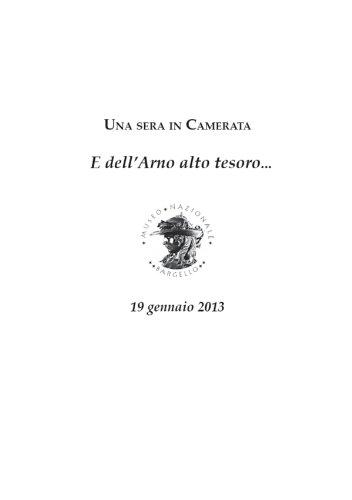 Una sera in Camerata: E dell'Arno alto tesoro... (Italian Edition)