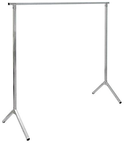 EYEPOWER klappbarer Kleiderständer Kleiderstange Standgarderobe Garderobenständer Wäscheständer 150cm lang Mehrzweckstand 100% Metall Silber
