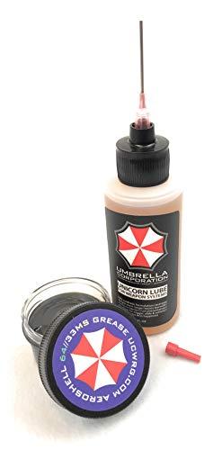 Umbrella Corporation Unicorn Lube Gun Oil Plus .5oz Jar Aeroshell 33MS / 64 Grease (2oz Oil + .5oz Grease)