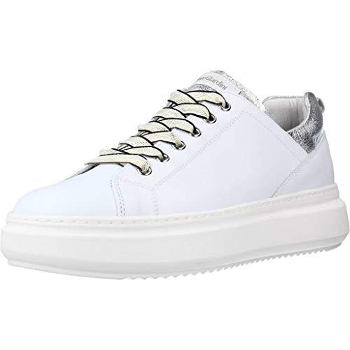 Nero Giardini E115262D Skipper Bianco Sneakers Sportive per Donna in Pelle con Zeppa Media (Taglia 38)