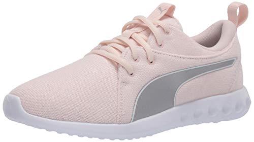 PUMA womens Carson 2 Sneaker, Rosewater-puma Silver-puma White, 8.5 US
