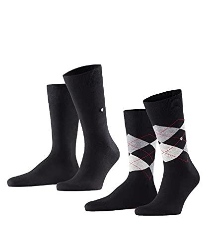 Burlington Herren Everyday Mix 2-Pack M SO Socken, Schwarz (Black 3000), 40-46 (UK 6.5-11 Ι US 7.5-12) (2er Pack)