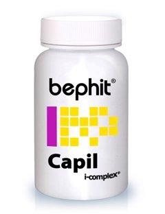 CAPIL (Aminoácidos azufrados + Grupo B + Selenio + Ginkgo + Vitamina C) BEPHIT - 60 cápsulas 610 mg