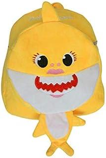 Baby Shark School Bag,School Backpack multicolor,cute plush bag (yellow)