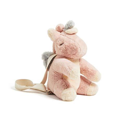 Mcttui Animales de peluche de felpa Mochila Bolsa Juguetes, rosado encantador de la historieta de la felpa del unicornio bolsa for niños relleno lindo animal Juguetes Mochila unicornio Plushie Bolso f