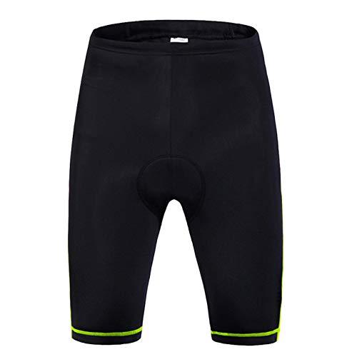 Pantalones Cortos De Ciclismo Mujeres,3D Gel Acolchado MTB Ciclismo Pantalon Corto,Transpirable Secado Rápido Bicicleta,para Correr Y Caminar Al Aire Libre Sports(Size:S,Color:Verde Negro)