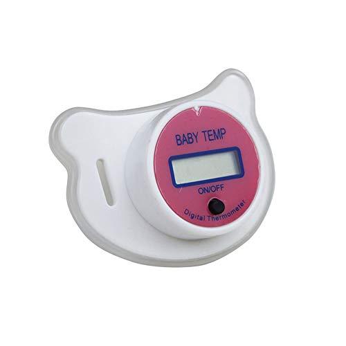 CCHM Baby-Nippel-Thermometer Medical Silikon Schnuller LCD Digital Kinder Thermometer Gesundheit, Sicherheit Pflege Thermometer für Kinder,Rot