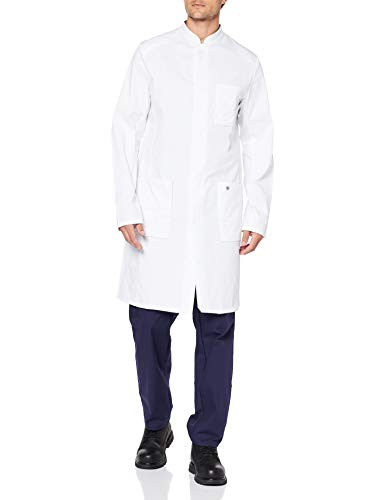 BP 1751-130-0021-48n Blouse de médecin à manches longues pour homme, 205 g/m², pur coton, blanc, 48n