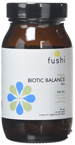 Fushi Biotic Vegan Balance 10 bn cfu Capsules, 90 Caps |Rich in Multi-Strain & Vitamin C | Contains FOS | for Vegetarians & Vegans | Made in The UK