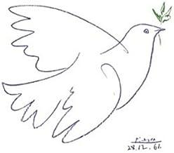 Germanposters Pablo Picasso - Póster de paloma azul, azul, Ohne Rahmen