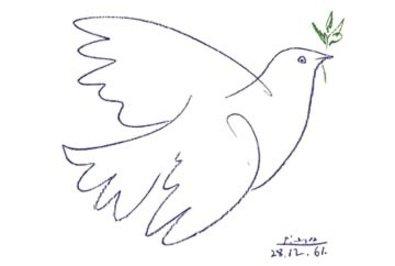 Germanposters Pablo Picasso die Blaue Taube Poster Kunstdruck
