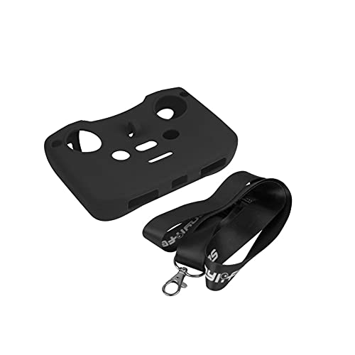 YXYX Accessori droni Accessori Drone Distanza della Copertura del Silicone di Controllo Manica Protettiva con Laccio for D&Ji Aria 2S Air/Mini (Color : Black)