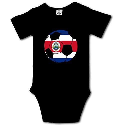 Mono Corto de Manga Corta para bebé de fútbol de Costa Rica con Mono de bebé