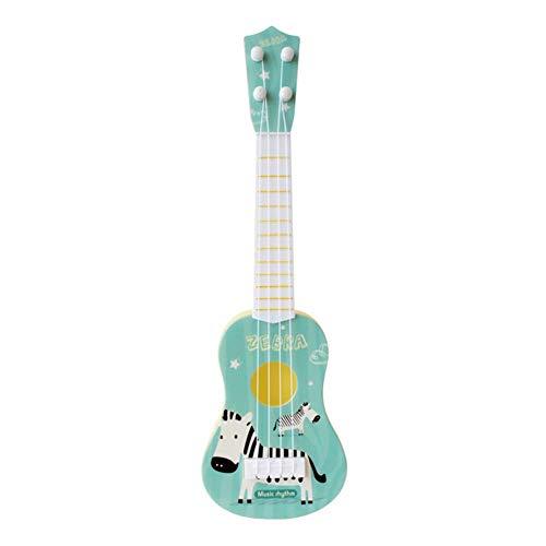LEIXNDPLBO grappige ukulele muziekinstrument kinderen gitaar montessori speelgoed voor kinderen school spelen spel onderwijs kerst, 36cm blauwe zera