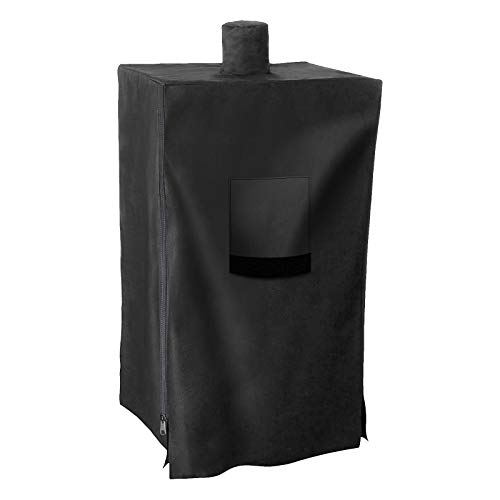 Uniflasy 73550 Pellet Smoker Cover for Pit Boss Grill 77550 5.5, 5 Series, PBV5P1, PBV5PW1, Pro 4 Series Vertical PBV4PS1 Smoker Cover, Heavy Duty Vertical Smoke Grill Cover for Pit Boss with Zipper