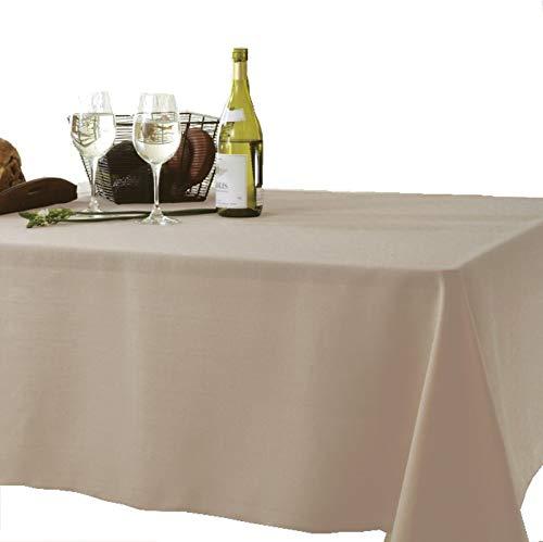 撥水テーブルクロス 14カラー 3サイズ キャンバス 140×230cm モカ(ベージュブラウン) 無地 VEGATEX 6人掛け