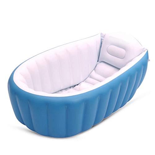 BESPORTBLE - Bañera hinchable para bebé, mini piscina de aire antideslizante, bañera de viaje portátil para niños y niñas