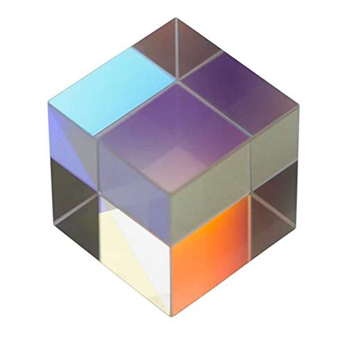 Anam Safdar Butt Cubic Science Cube Optical Prisma Photography con Prisma hexaédrico Decoración del hogar Prisma Color de Vidrio Regalo para niños - Colorido 1 tamaño